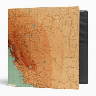 California, Nevada showing intensity 3 Ring Binder