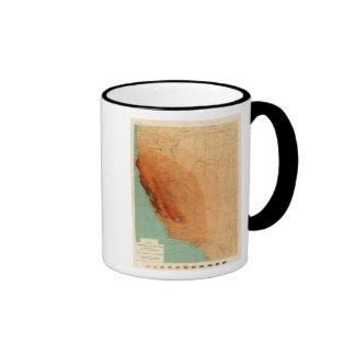California, Nevada showing intensity Coffee Mugs