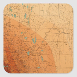 California, Nevada showing intensity Square Sticker