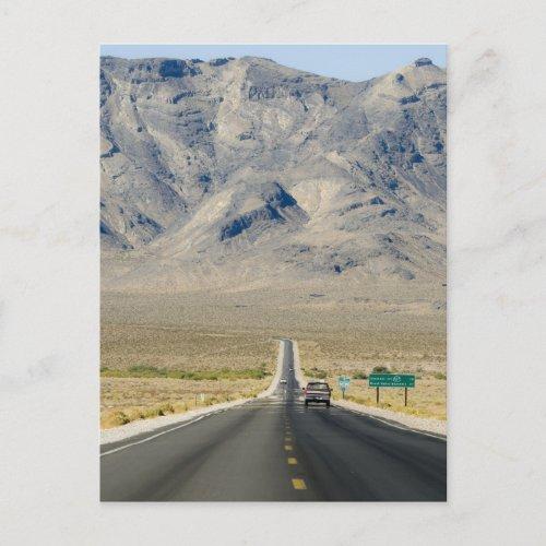 California  Nevada State Line Postcard