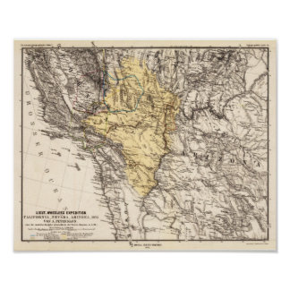 California, Nevada y Arizona Petermann, A. 1876 Impresiones