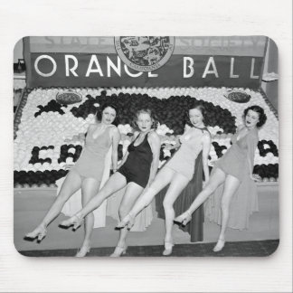 California Orange Ball, 1930s Mouse Pad