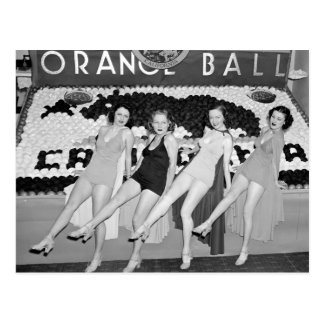 California Orange Ball, 1930s Postcard