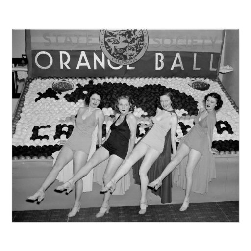 California Orange Ball, 1930s Poster