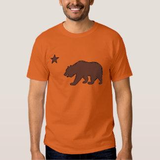 California orange brown bear flag symbol guys tee