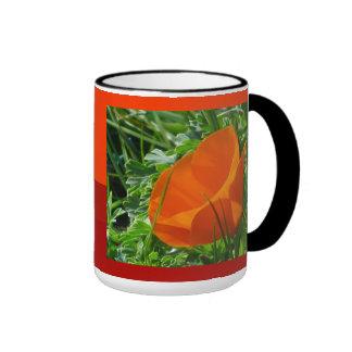 California orange Floewr Ringer Mug