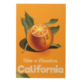 California Orange Retro Style vacation print