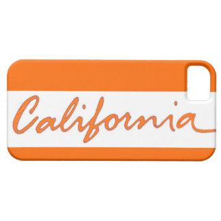 California orange theme local iphone 5 case
