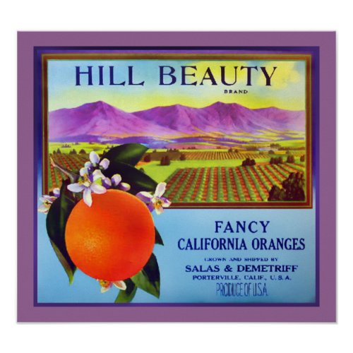 California Oranges Fruit Advertisement Print