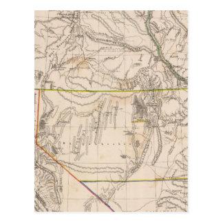 California Oregan Utah New México Tarjeta Postal