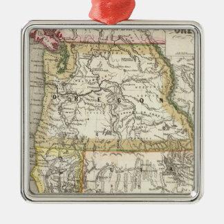 California, Oregon, Utah Metal Ornament