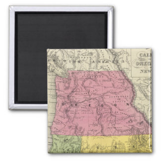California, Oregon, Utah, New Mexico 2 Inch Square Magnet