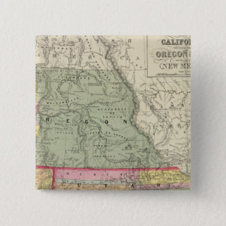 California, Oregon, Utah, New Mexico 2 Pinback Button