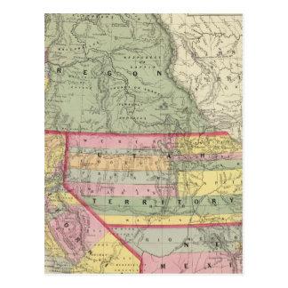 California, Oregon, Utah, New Mexico 2 Postcard