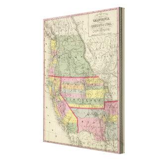 California, Oregon, Utah, New Mexico 3 Canvas Print