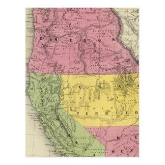 California, Oregon, Utah, New Mexico Postcard