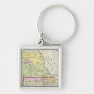 California, Oregon, Washington, Utah, New Mexico 2 Keychain