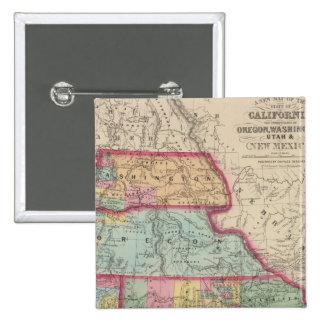 California, Oregon, Washington, Utah, New Mexico 2 Pinback Button