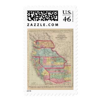 California Oregon Washington Utah New Mexico 2 Postage Stamps