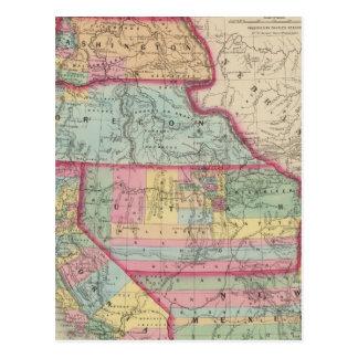 California, Oregon, Washington, Utah, New Mexico 2 Postcard