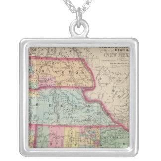 California, Oregon, Washington, Utah, New Mexico 2 Silver Plated Necklace