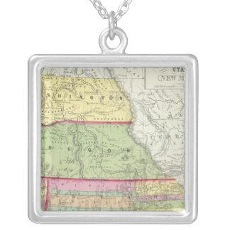 California, Oregon, Washington, Utah, New Mexico 3 Silver Plated Necklace