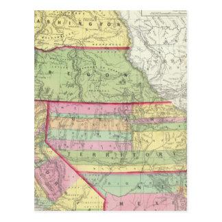 California Oregon Washington Utah New México 3 Tarjeta Postal