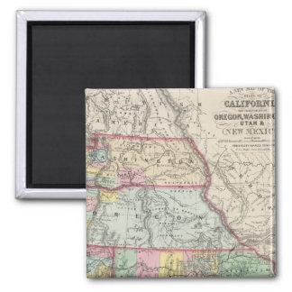 California, Oregon, Washington, Utah, New Mexico 4 2 Inch Square Magnet