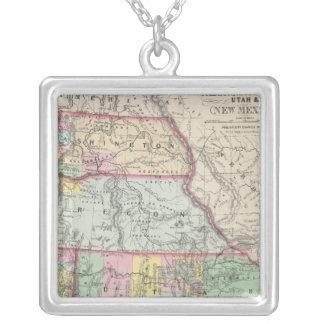 California, Oregon, Washington, Utah, New México 4 Colgante Cuadrado