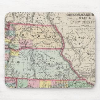 California, Oregon, Washington, Utah, New Mexico 4 Mouse Pad