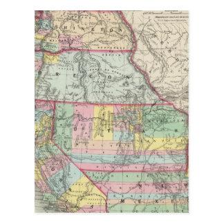 California, Oregon, Washington, Utah, New Mexico 4 Postcard