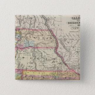 California, Oregon, Washington, Utah, New Mexico 5 Button