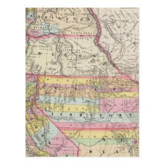 California, Oregon, Washington, Utah, New Mexico 5 Postcard