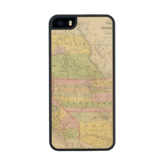 California, Oregon, Washington, Utah, New México 6 Funda De Arce Carved® Para iPhone 5 Slim