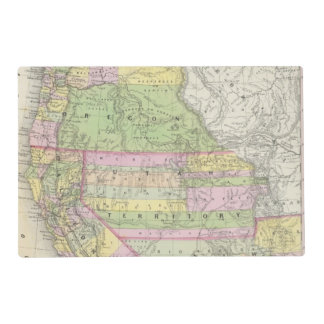 California, Oregon, Washington, Utah, New Mexico 6 Placemat