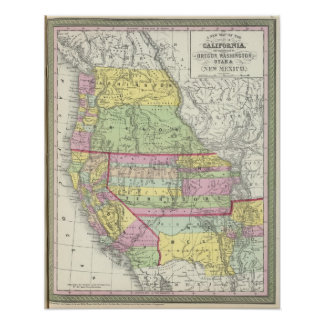 California, Oregon, Washington, Utah, New México 7 Poster