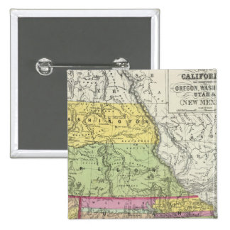 California, Oregon, Washington, Utah, New México 8 Pin Cuadrada 5 Cm