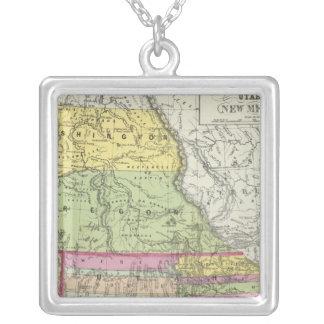California, Oregon, Washington, Utah, New Mexico 8 Silver Plated Necklace