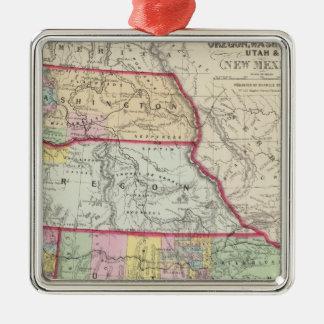 California, Oregon, Washington, Utah, New Mexico Metal Ornament