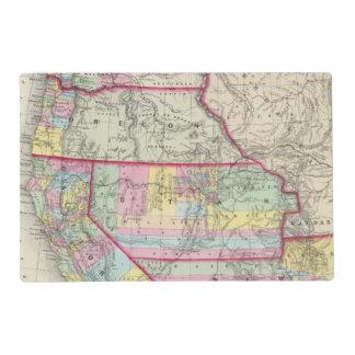 California, Oregon, Washington, Utah, New Mexico Placemat