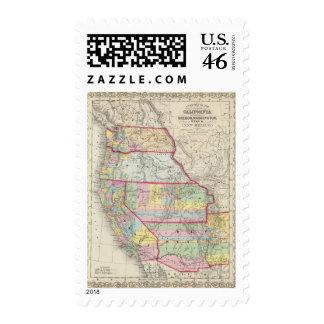 California Oregon Washington Utah New Mexico Postage