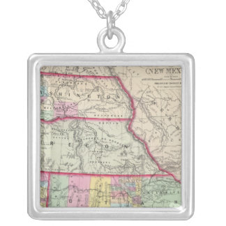 California, Oregon, Washington, Utah, New Mexico Silver Plated Necklace