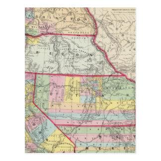 California, Oregon, Washington, Utah, New México Tarjeta Postal