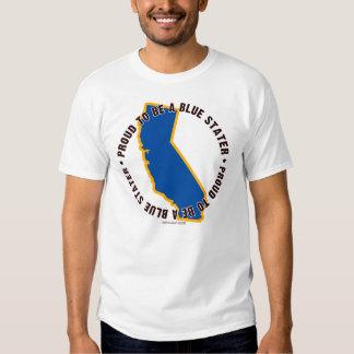 California: ¡Orgulloso ser una camiseta azul de Poleras
