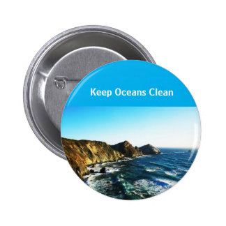 California Pacific Keep Oceans Clean 2 Inch Round Button