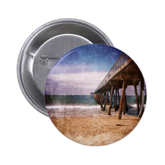 California Pacific Ocean Pier Pinback Buttons