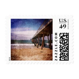 California Pacific Ocean Pier Postage Stamp