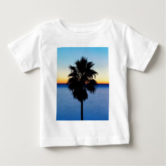 California Palm Tree and Pacific Ocean Sunset Baby T-Shirt