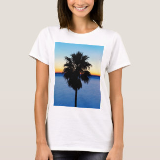 California Palm Tree and Pacific Ocean Sunset T-Shirt