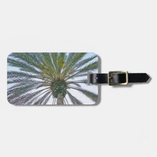 California Palm Tree Luggage Tag